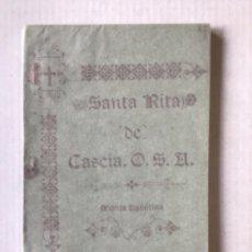 Libros antiguos: LA PATRONA DE LO IMPOSIBLE. SANTA RITA DE CASCIA, O. S. A., MONJA AGUSTINA. POR UN PADRE AGUSTINO.. Lote 123146391