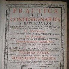 Libros antiguos: CORELLA, JAIME DE: PRACTICA DEL CONFESSIONARIO... PRIMERA Y SEGUNDA PARTE. 1743. Lote 278620983