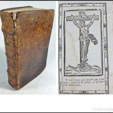 Libros antiguos: EL OFICIO DE LA SEMANA SANTA, LIBRO DEL SIGLO XVIII CON EX-LIBRIS MANUSCRITO DEL AÑO 1763.. Lote 278822538