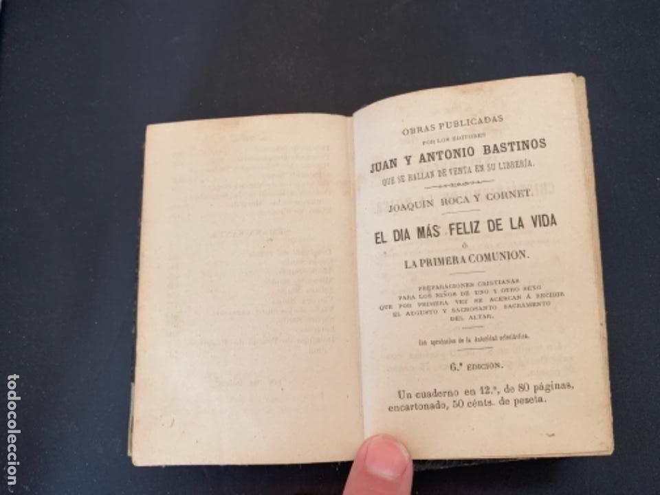 Libros antiguos: LIBRO LA ESPERANZA DEL CRISTIANO DEVOCIONARIO 1881 - Foto 10 - 285764533