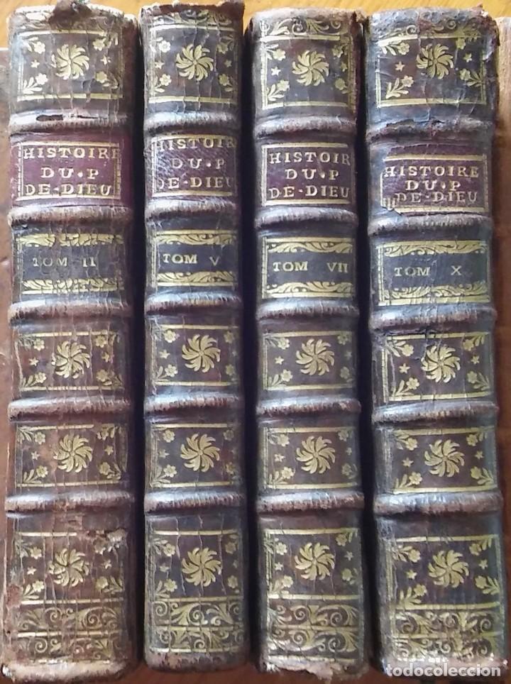 HISTORIA DEL PUEBLO DE DIOS, BERRUYER. PARÍS, 1742-43. TOMOS 2, 5, 7 Y 10 DE LA OBRA. (Libros Antiguos, Raros y Curiosos - Religión)