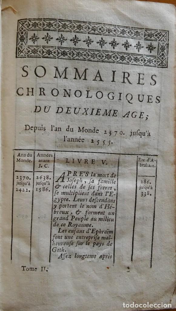 Libros antiguos: Historia del pueblo de Dios, Berruyer. París, 1742-43. Tomos 2, 5, 7 y 10 de la obra. - Foto 3 - 286154933