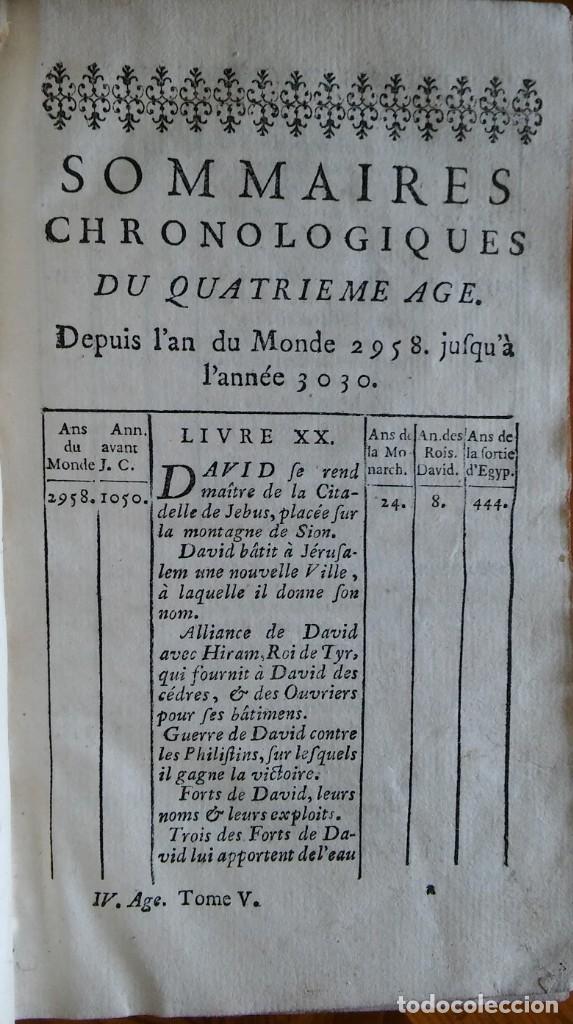 Libros antiguos: Historia del pueblo de Dios, Berruyer. París, 1742-43. Tomos 2, 5, 7 y 10 de la obra. - Foto 5 - 286154933