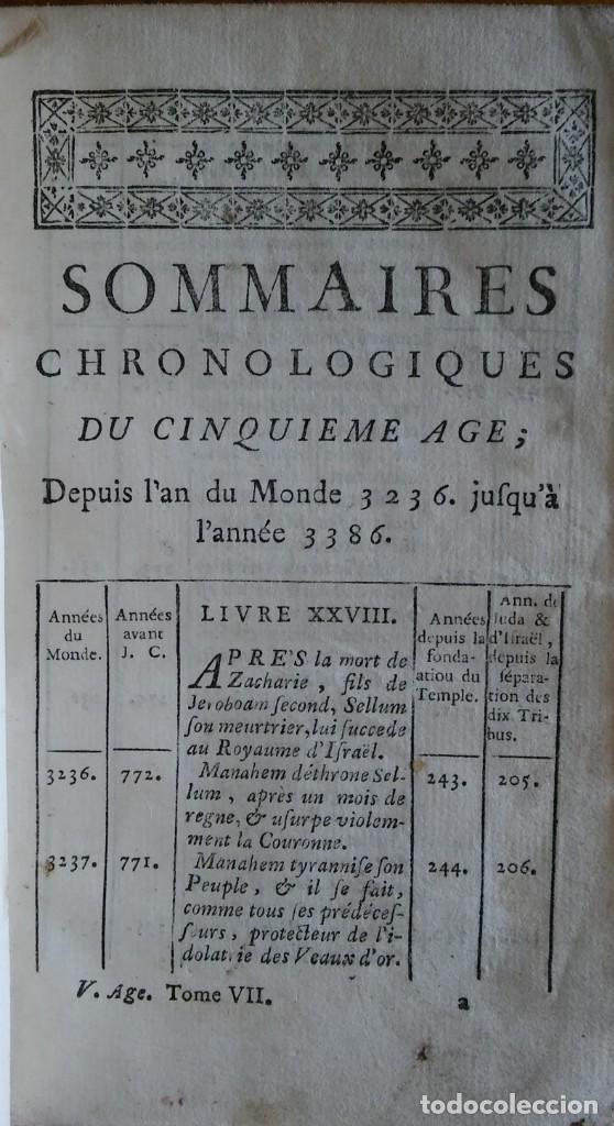 Libros antiguos: Historia del pueblo de Dios, Berruyer. París, 1742-43. Tomos 2, 5, 7 y 10 de la obra. - Foto 7 - 286154933