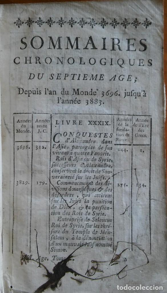 Libros antiguos: Historia del pueblo de Dios, Berruyer. París, 1742-43. Tomos 2, 5, 7 y 10 de la obra. - Foto 9 - 286154933