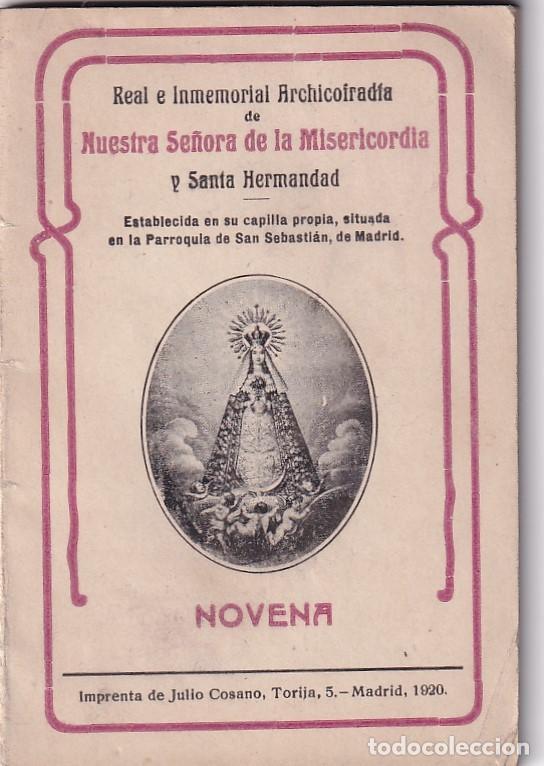 NOVENA NUESTRA SEÑORA DE LA MISERICORDIA. MADRID 1920 (Libros Antiguos, Raros y Curiosos - Religión)