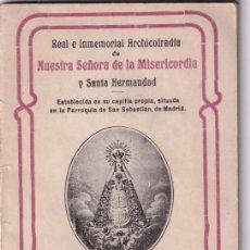 Libros antiguos: NOVENA NUESTRA SEÑORA DE LA MISERICORDIA. MADRID 1920. Lote 286237668
