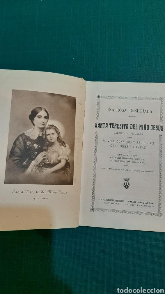 Libros antiguos: UNA ROSA DESHIJADA SANTA TERESINA DEL NIÑO JESÚS CARMELITA 1925 Buen estado - Foto 2 - 286319433