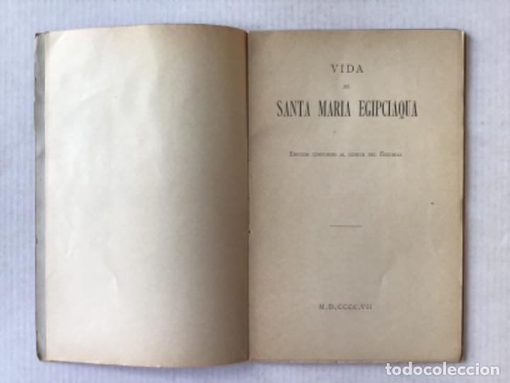 Libros antiguos: VIDA DE SANTA MARIA EGIPCIAQUA. Edición conforme al códice del Escorial. - Foto 2 - 286638468