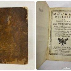 Libros antiguos: OEUVRES DIVERSES DE MONSIEUR DE GRECOURT. NOUVELLE EDITION. TOMO III. AMSTERDAM, 1788. PAGS: 172. Lote 286644918
