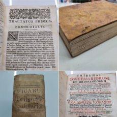 Libros antiguos: PERGAMINO, SIGLO XVIII. TRIBUNAL CONFESSARIORUM ET ORDINANDORUM... 1721 MARTIN WIGANDT BUEN ESTADO. Lote 286793168