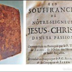 Livres anciens: AÑO 1740: LOS SUFRIMIENTOS DE JESUCRISTO. LIBRO DEL SIGLO XVIII. 2 TOMOS EN 1 VOLUMEN. Lote 286886943