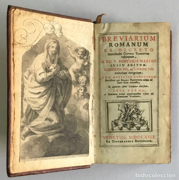 Libros antiguos: BREVIARIUM ROMANUM EX DECRETO SACROSANCTI... - [BREVIARIO.] 1749 - Foto 4 - 287218133