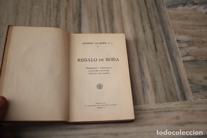 REGALO DE BODA REMIGIO VILARIÑO EL MENSAJERO DEL CORAZÓN DE JESUS 1931 (Libros Antiguos, Raros y Curiosos - Religión)
