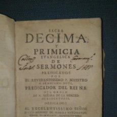 Libros antiguos: 1644. ZARAGOZA. INQUISICION. SACRA DÉCIMA DEL PADRE BOYL.. Lote 287624788