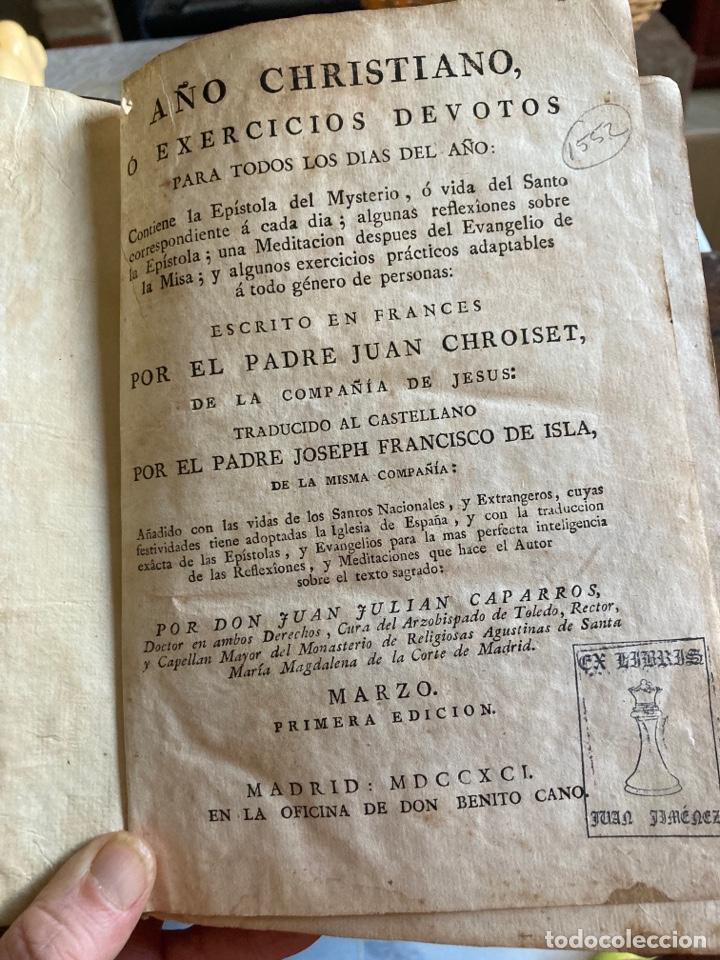 Libros antiguos: Lote de 2 libros año cristiano 1795, primera edición - Foto 2 - 288338918