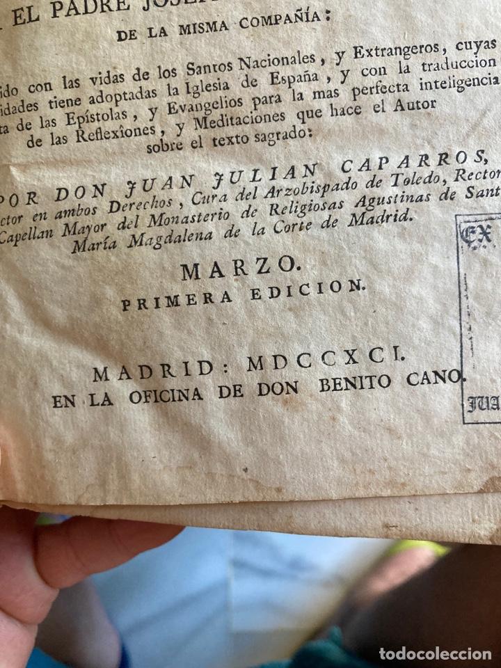 Libros antiguos: Lote de 2 libros año cristiano 1795, primera edición - Foto 3 - 288338918