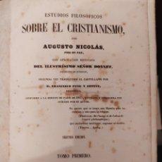 Libros antiguos: ESTUDIOS FILOSÓFICOS SOBRE EL CRISTIANISMO. Lote 288549508