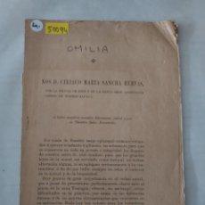 Libros antiguos: 50094 - OMILIA , NOS D. CIRIACO MARIA SANCHA HERVAS - 19 DE MARZO DE 1888. Lote 288858273
