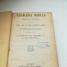 Libros antiguos: SAGRADA BIBLIA. FELIX TORRES AMAT. DIVISIONES PREPARADAS POR SEVERIANO DEL PÁRAMO. 1928. MADRID. Lote 288898683