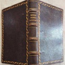 Libros antiguos: OFFICIA PROPRIA SANCTORUM VALENTINAE DIOECESIS - VALENCIA AÑO 1877. Lote 289587598