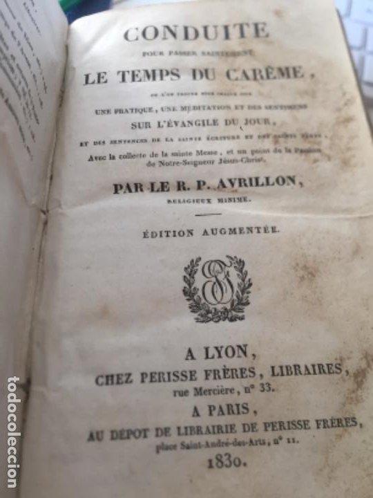 Libros antiguos: Conduits pour passer saintement Le temps su Carême par RPAvrillon 1830 - Foto 5 - 289716898
