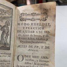 Livros antigos: MODO EXPEDIT Y PRACTIC DE AJUDAR A BE MORIR, AUTOR DESCONOCIDO. S XVIII. Lote 293367778