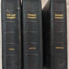 Libri antichi: TRES TOMOS BREVIARIUM ROMANUM PARS AUTUMNALIS, PARS VERNA Y PARS AESTIVA - AÑO 1926-28 BELGICA. Lote 294013633