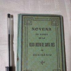 Libros antiguos: NOVENA EN HONOR BEATA JOSEFA INÉS DE BENIGAMIM VALENCIA 1917. Lote 295438173