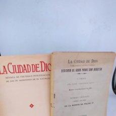 Libros antiguos: 2 REVISTAS LA CIUDAD DE DIOS. Lote 295458913