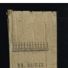 Libros antiguos: MANUAL BÍBLICO O CURSO DE SAGRADA ESCRITURA TOMO 2 - M.M.L. BACUEZ Y F. VIFOUROUX - 1893. Lote 296795518