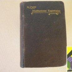 Libros antiguos: PUENTE, LUIS DE LA: MEDITACIONES ESPIRITUALES. TOMO III:MEDITACIONES PARA ALCANZAR LAS VIRTUDES. Lote 296798938