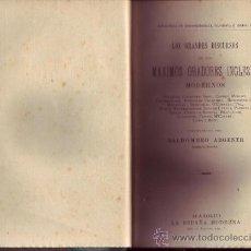 Libros antiguos: LOS GRANDES DISCURSOS DE LOS MÁXIMOS ORADORES INGLESES. SULLIVAN, COCKBURN, SHEIL, COBDER, MORLEY,. Lote 26852264