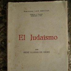 Libros antiguos: EL JUDAISMO 1935 210PGS. Lote 27331393
