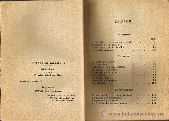 Libros antiguos: CATECISMO SOCIAL - LA FAMILIA - VICTOR G. DE ECHÁVARRI - 1935 - Foto 3 - 29974410