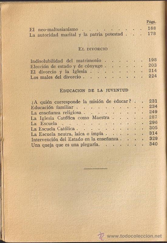 Libros antiguos: CATECISMO SOCIAL - LA FAMILIA - VICTOR G. DE ECHÁVARRI - 1935 - Foto 4 - 29974410