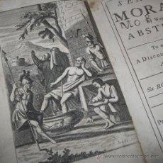 Libros antiguos: SENECA'S MORAL BY WAY OF ABSTRACT, DE ROGER L'ESTRAGE, 1722. CONTIENE 6 LÁMINAS GRABADAS.. Lote 30655129