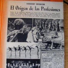 Libros antiguos: EL ORIGEN DE LAS PROFESIONES - HERBERT SPENCER. Lote 37736667