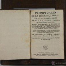 Libros antiguos: 4427- PROMPTUARIO DE LA THEOLOGIA MORAL. FRANCISCO LARRAGA. IMP. SIERRA I MARTI. 1797. . Lote 41395983