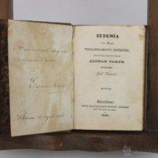 Libros antiguos: 4444- EUFEMIA O LA MUGER VERDADERAMENTE INSTRUIDA. ALEMAN CAMPE. IM. PIFERRER. 1838.. Lote 41402794