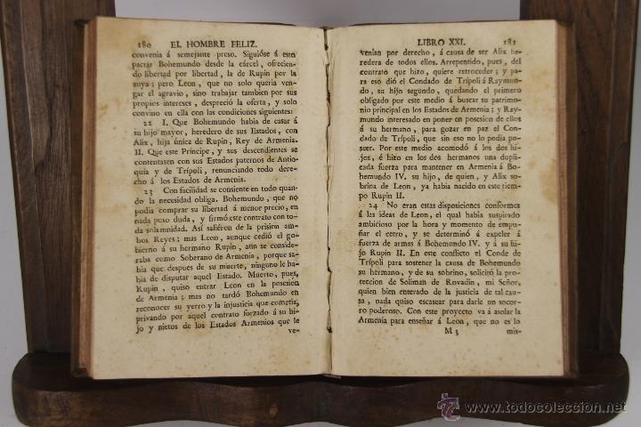 Libros antiguos: D-051. EL HOMBRE FELIZ INDEPENDIENTE DEL MUNDO.TEODORO DE ALMEIDA. IMP. BENITO CANO, 1786. 3 VOL. - Foto 4 - 41722455