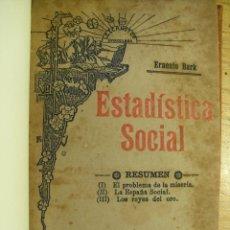 Libros antiguos: ERNESTO BARK - ESTADÍSTICA SOCIAL. Lote 43121498