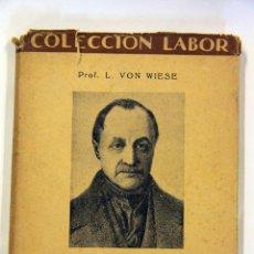 Libros antiguos: SOCIOLOGÍA, COLECCIÓN LABOR. 1932. Lote 45252416