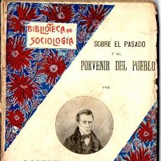 Libros antiguos: LAMENNAIS : SOBRE EL PASADO Y EL PORVENIR DEL PUEBLO (SOPENA, C. 1920). Lote 54611211