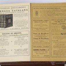 Libros antiguos: 6744 - TRADICIONS POPULARS.2 EJEM.(VER DESCRIP). VALERI SERRA BOLDÚ. IMP. CASA CARITAT. 1935.. Lote 50122347