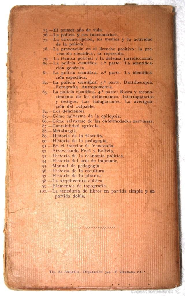 Libros antiguos: LA SOCIOLOGÍA 1920 APROX. DR. GÁMBARA. BIBLIOTECA CIENCIAS SOCIALES, MÉDICAS, JURÍDICAS Y NATURALES - Foto 2 - 57266636