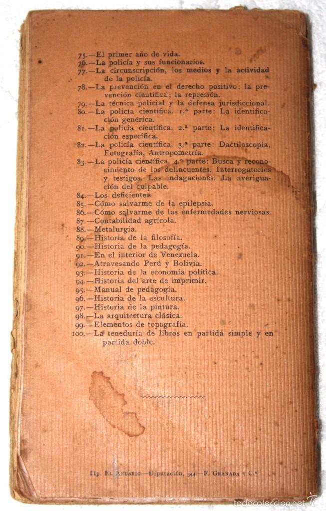 Libros antiguos: SOCIOLOGÍA CRIMINAL 1920 APROX. DR GÁMBARA. BIBLIOT. CIENCIASSOCIALES, MÉDICAS, JURÍDICAS, NATURALES - Foto 2 - 57266662
