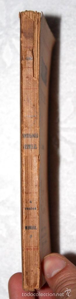 Libros antiguos: SOCIOLOGÍA CRIMINAL 1920 APROX. DR GÁMBARA. BIBLIOT. CIENCIASSOCIALES, MÉDICAS, JURÍDICAS, NATURALES - Foto 3 - 57266662