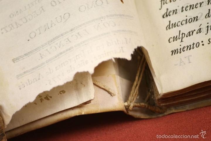 Libros antiguos: LP-296 - CARTAS CRÍTICAS SOBRE VARIAS QUESTIONES. TOMO IV. COSTANTINI. IMP. A. RAMIREZ. 1775. - Foto 5 - 60778427