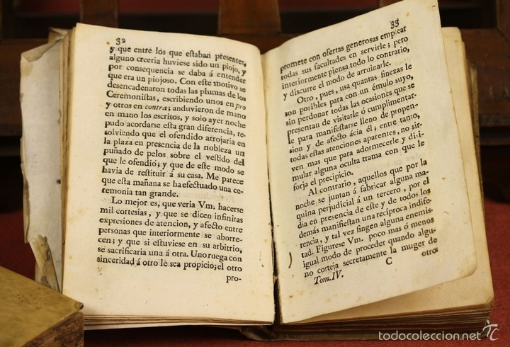 Libros antiguos: LP-296 - CARTAS CRÍTICAS SOBRE VARIAS QUESTIONES. TOMO IV. COSTANTINI. IMP. A. RAMIREZ. 1775. - Foto 6 - 60778427